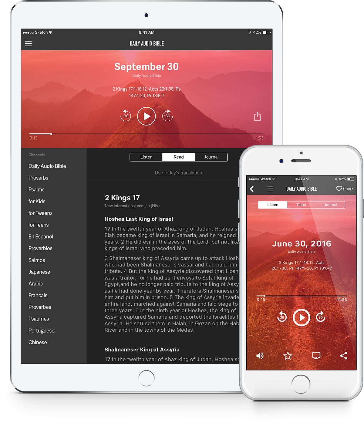 The Daily Audio Bible Mobile App